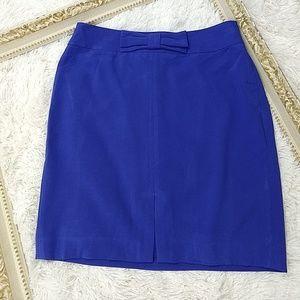 Banana Republic Cobalt Blue Bow Pencil Skirt